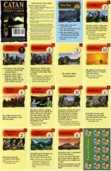 Catan gebeurteniskaarten (voorbeeld)