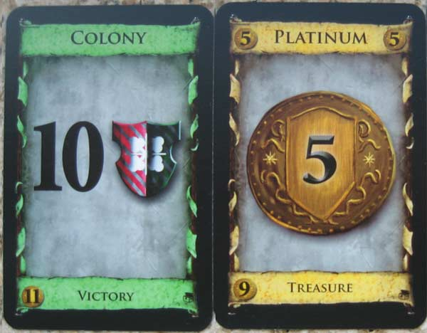 Colony and Platinum cards
